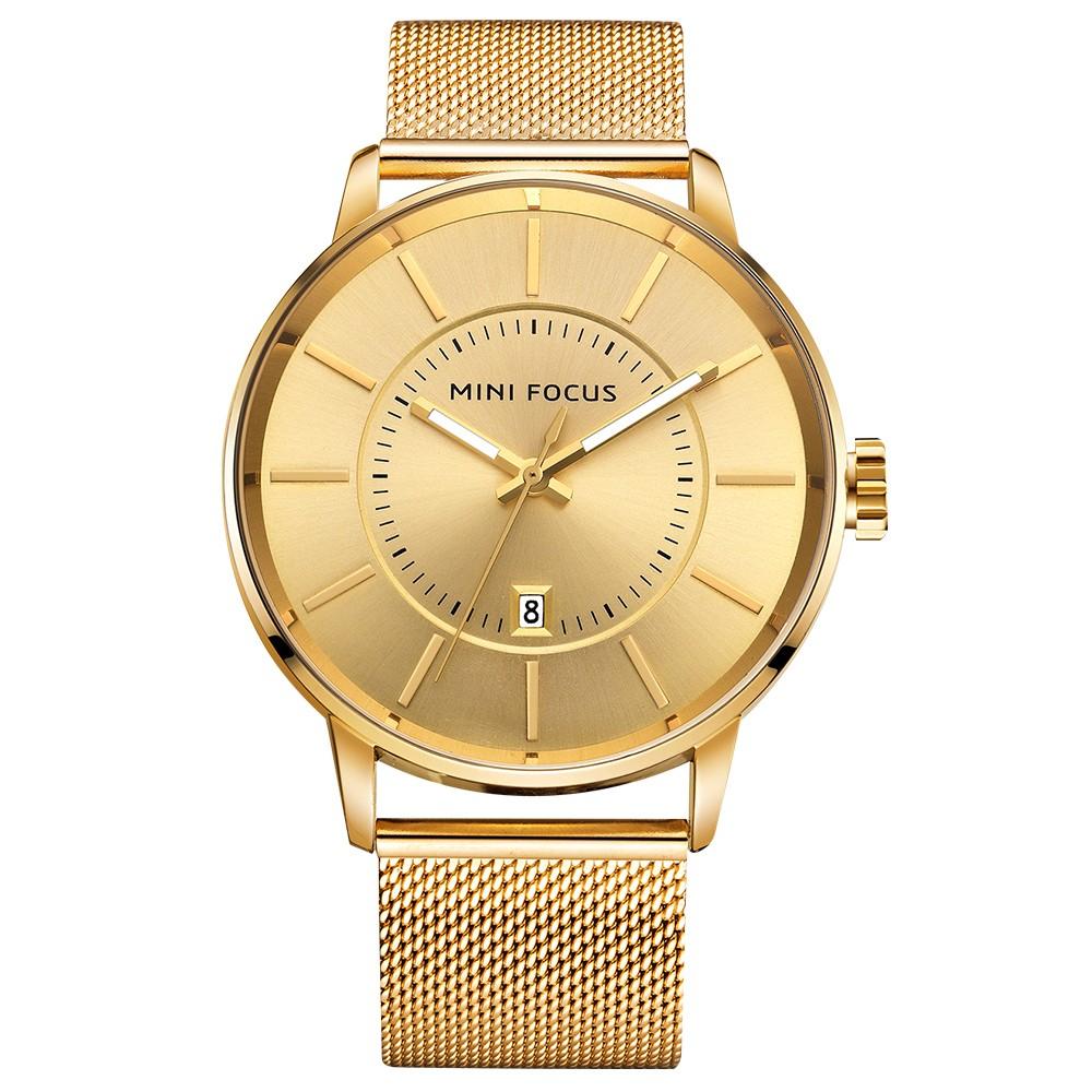 7ebb2d9dc3f MINI FOCUS Moda Homens de aço inoxidável Relógios Quartz 3ATM  Water-resistant Luminous Casual Man