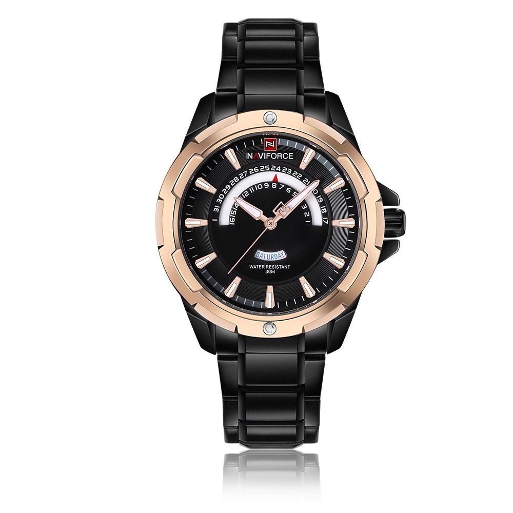 e421ffdd4c4 NAVIFORCE Moda Relógios de aço inoxidável Homens 3ATM Quartzo resistente à  água Luminous Casual Man Relógio de pulso Relogio Musculino masculino rosa  ouro ...