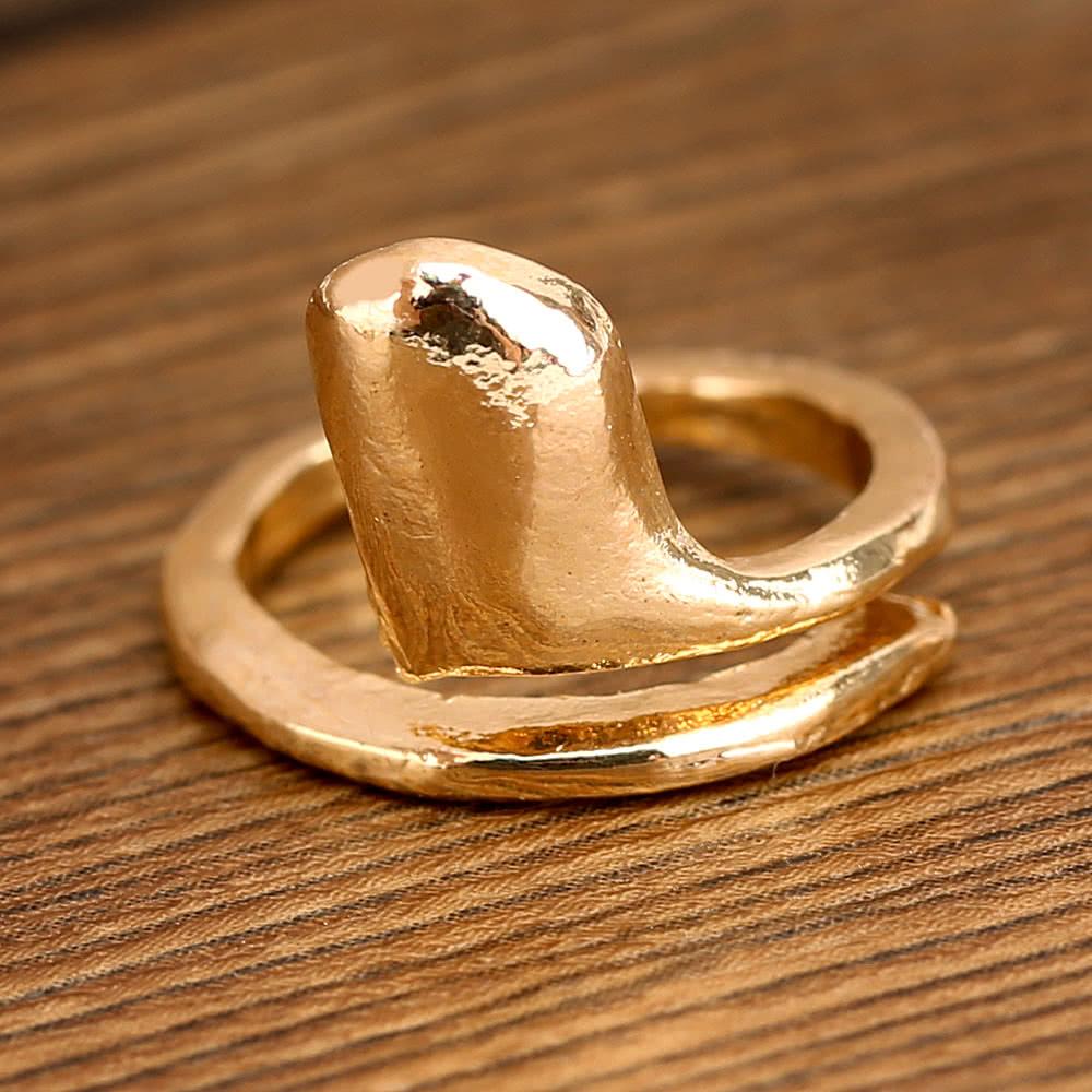 7st. Punk-Stil Gold Farbe Skull Bowknot Herz Design einfache Nagel ...