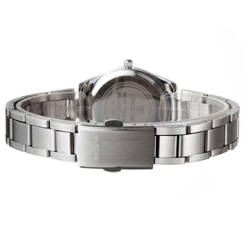 4e9c2adf38c SKONE bonito coração forma flor Dial liga Watchband Rhinestone incorporado  impermeável delicado relógio de pulso para mulheres