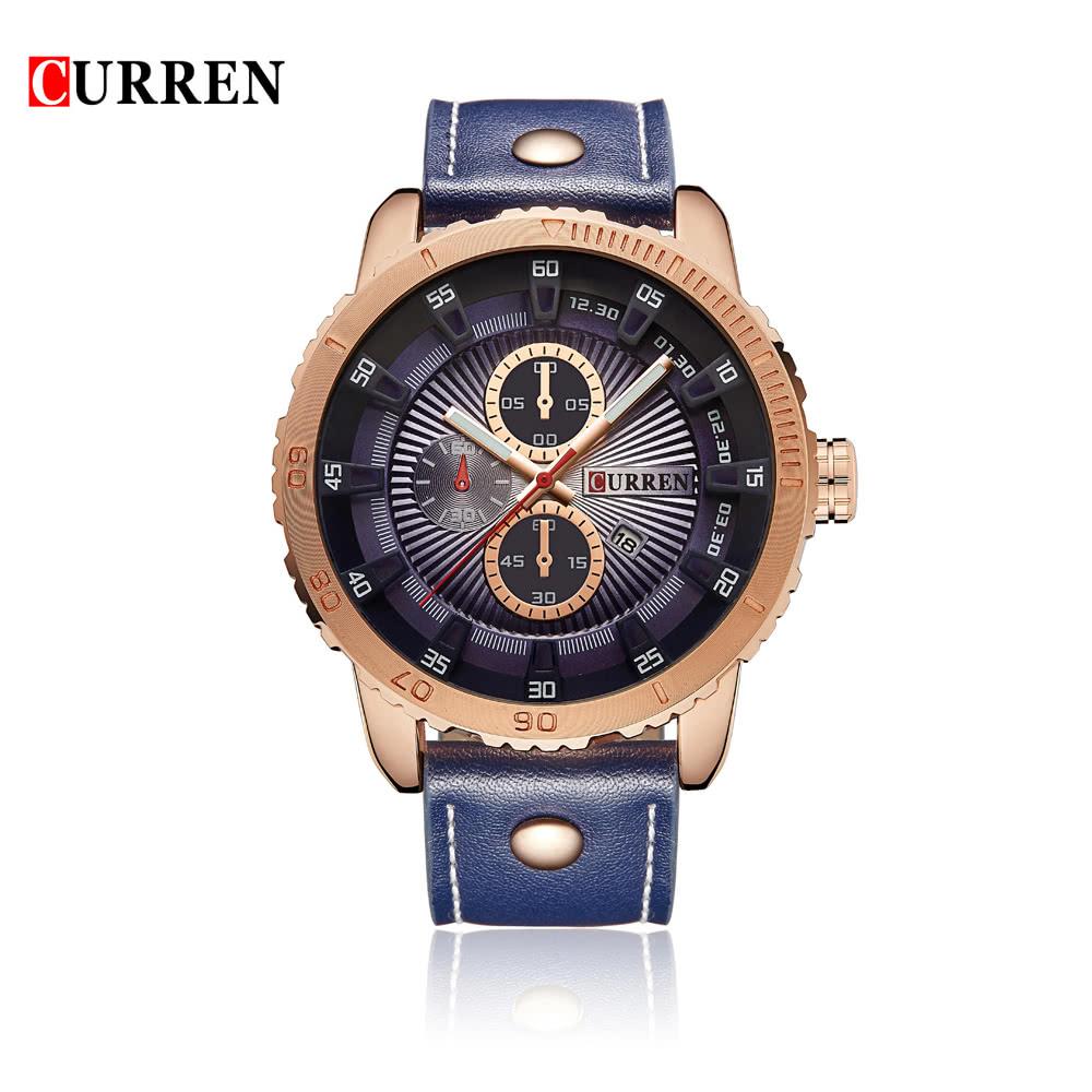 56187a61d349 Mejor Relojes de cuarzo para hombre CURREN marca de azul Venta ...