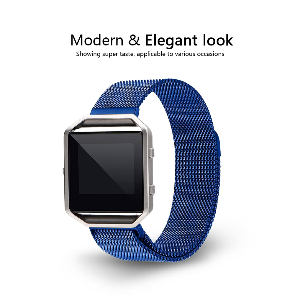 Band for Fitbit Blaze Watch 40mm Stainless Steel Mesh Watch Band Frame  Magnetic Buckle Milanese Loop Replacement Strap for Fitbit Blaze Fitness  Watch