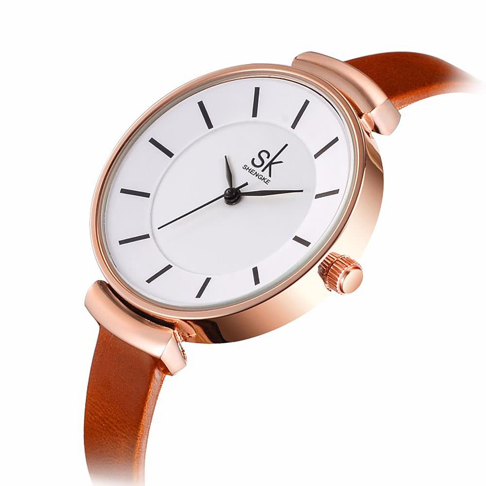 Cuoio sk marca orologi di lusso delle donne della cinghia for Offerte orologi di lusso