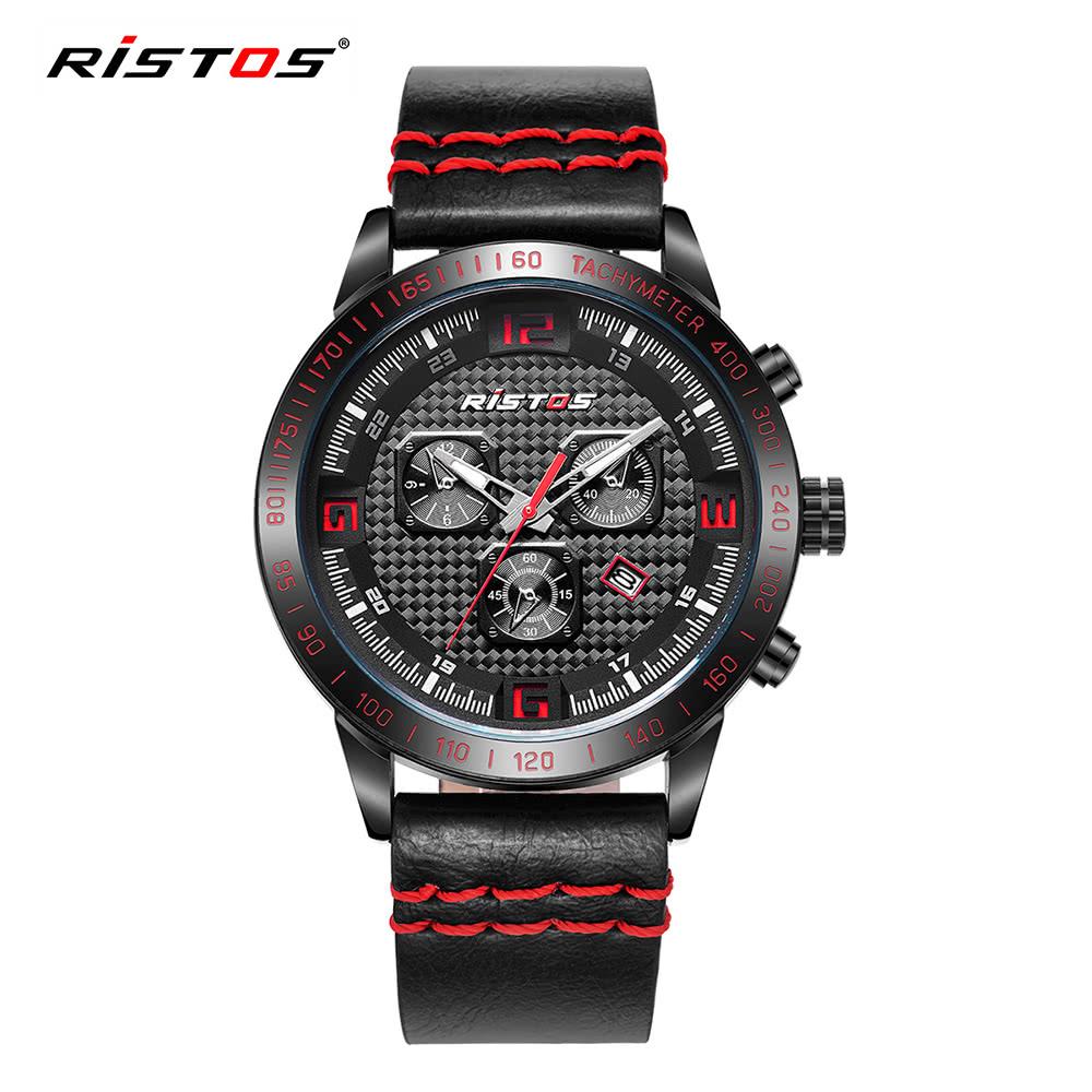 42bb1ae11c4 RISTOS 3ATM Relógios de pulso resistentes à água Relógios relógios  masculinos Relógios relógios masculinos vermelho - Tomtop.com