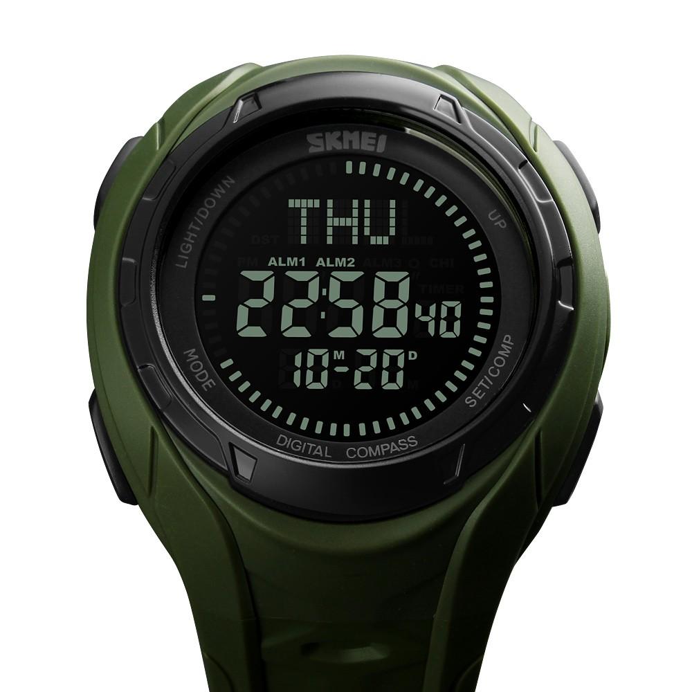 7d0600c66bf7 SKMEI Hombres 5ATM resistente al agua E-Compass LED Reloj electrónico  Deportes al aire libre Relojes digitales Luz de fondo Alarma   Cronómetro    Cuenta ...