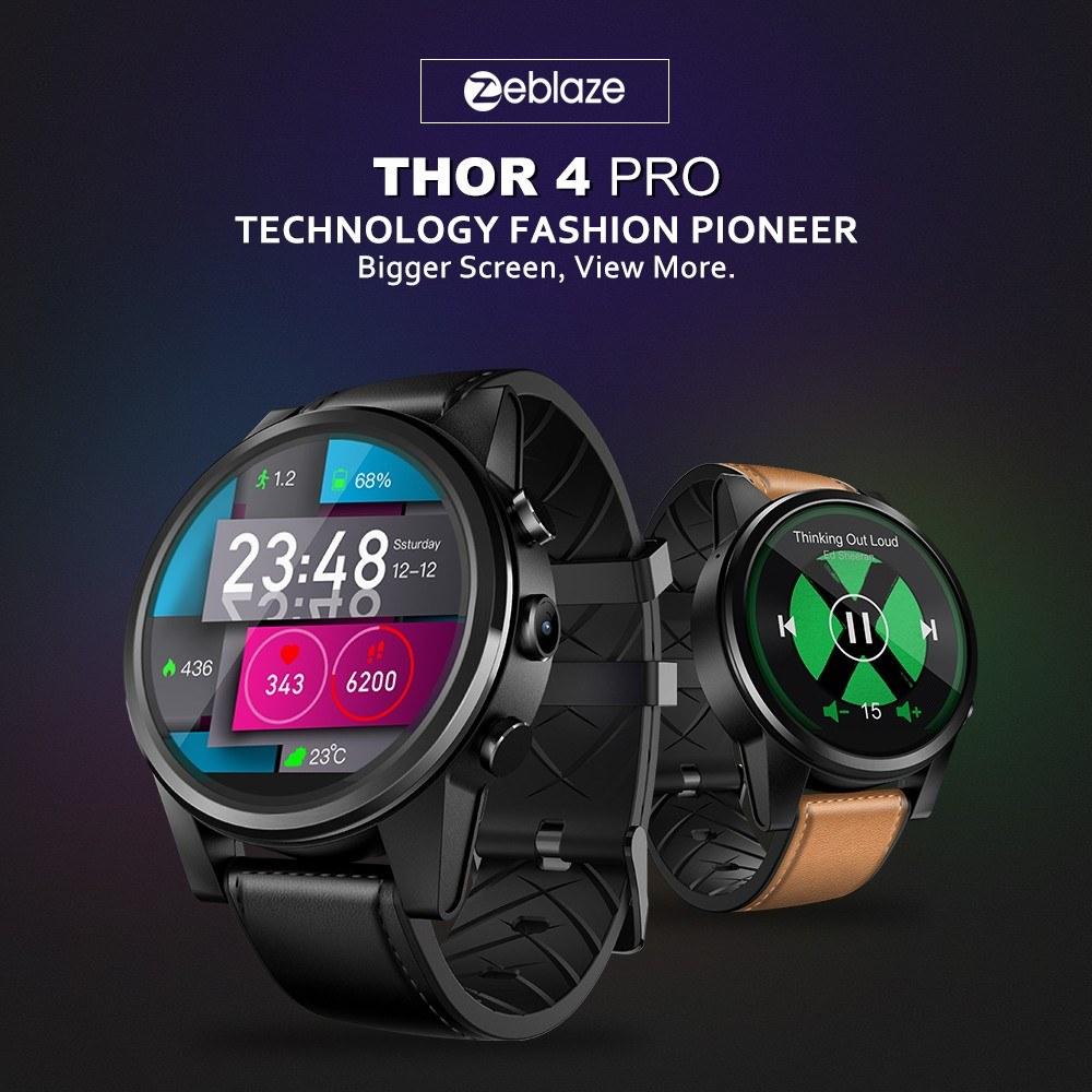 Zeblaze Thor 4 Pro 4g Lte Smart Watch Brown Online