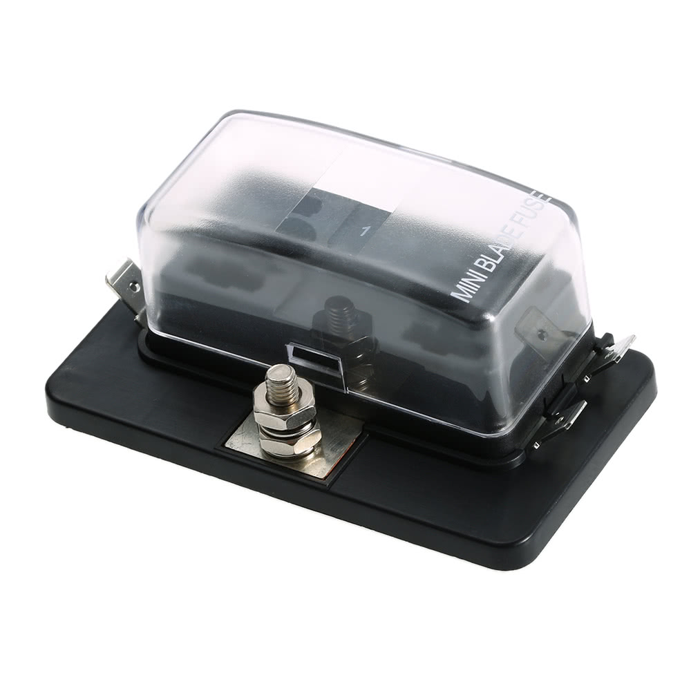 Best 4 Way Mini Blade Fuse Box Holder Apm Atm 5a 10a 25a For Car Supplies Boat Marine