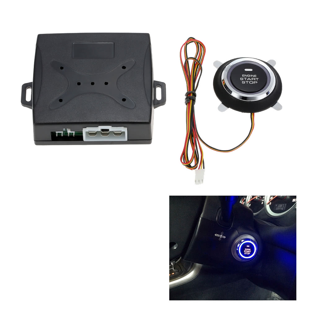 Universal Car Alarm System Driving Security Push Button Engine Start RFID Lock Ignition Starter  Keyless Entry System