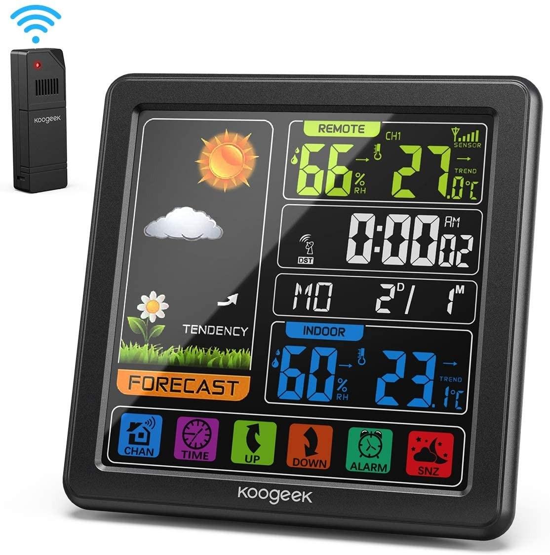 Tomtop - [US Warehouse] 45% OFF Koogeek Wireless Weather Station, $21.99 (Inclusive of VAT)