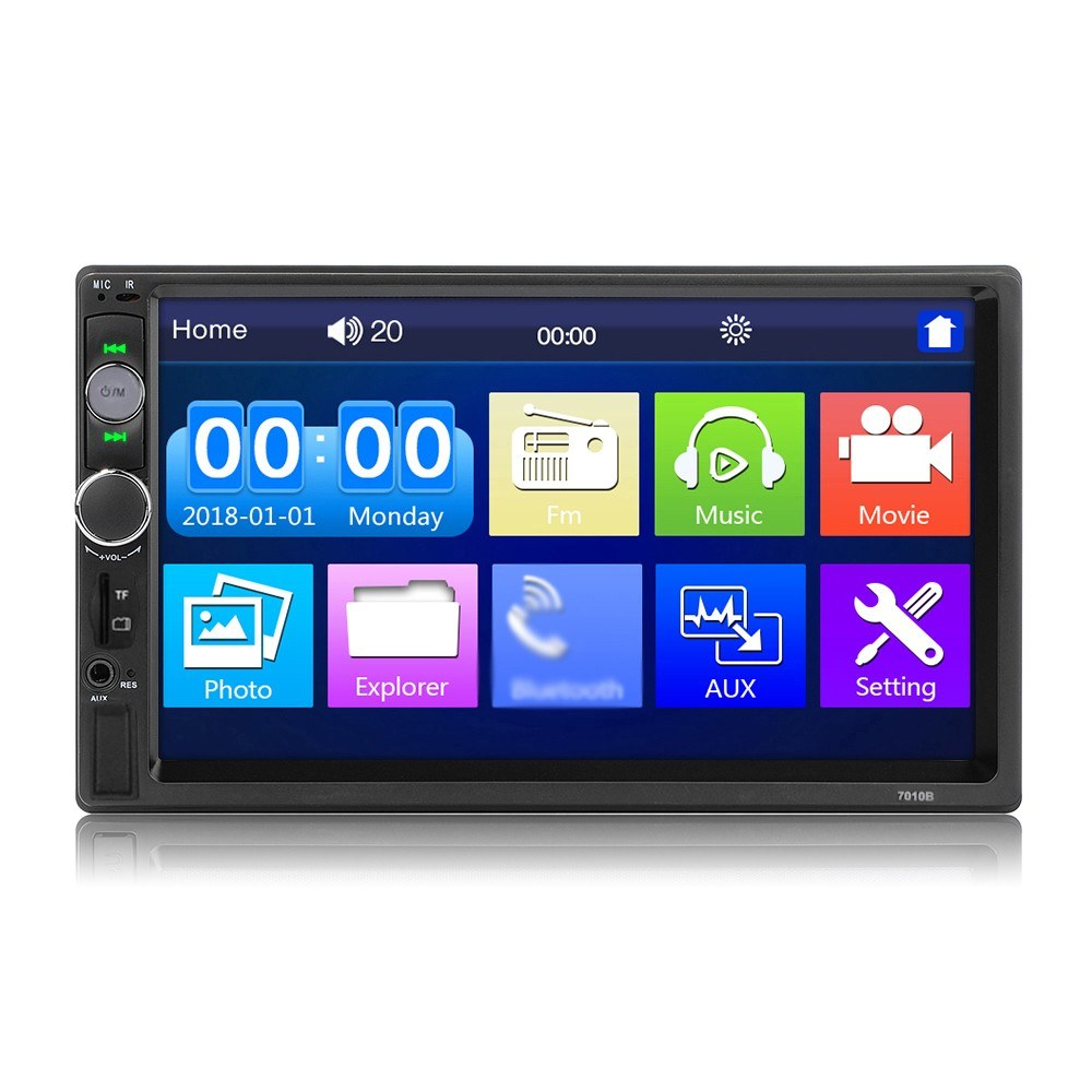Tomtop - 56% OFF 7-inch Double Din Car Stereo Receiver, Free Shipping $49.99