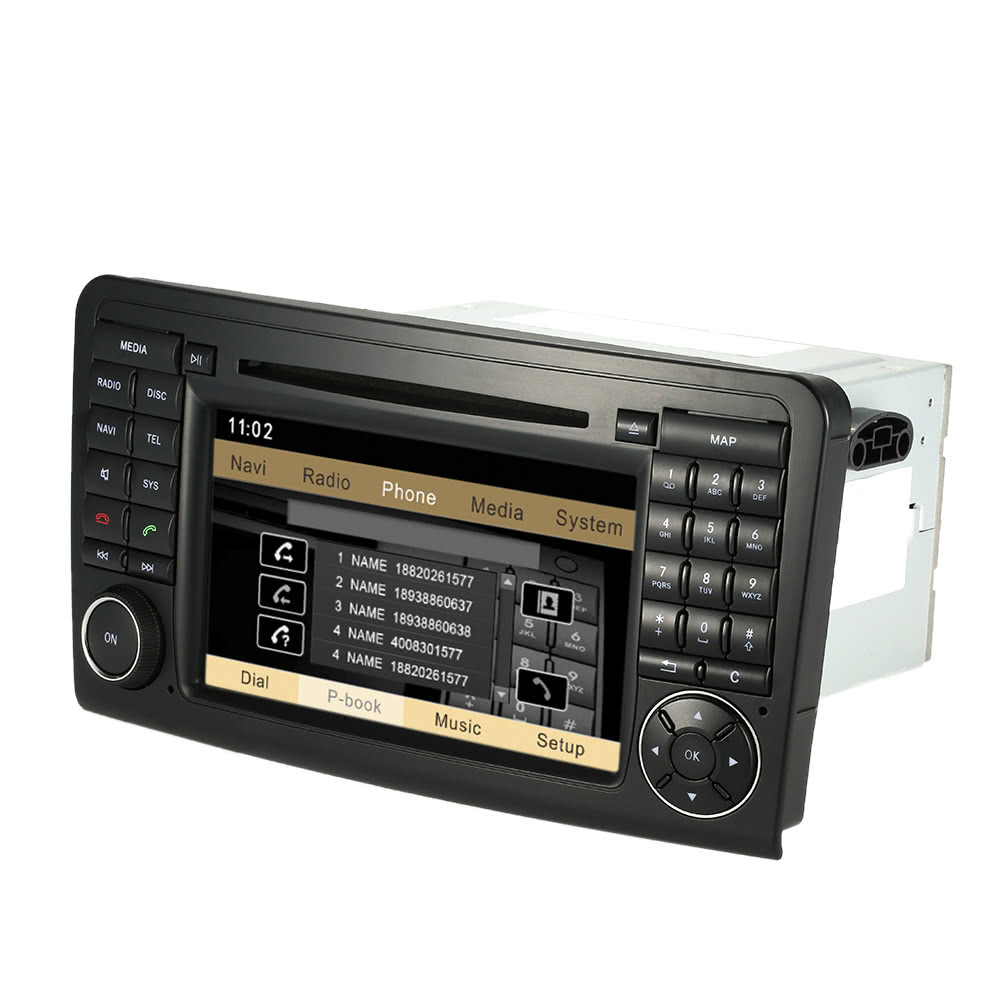 Best 7 car radio double 2 din dvd player gps for mercedes for Mercedes benz dvd player