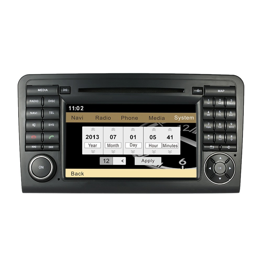 7 car radio double 2 din car dvd player gps navigation in for Mercedes benz car stereo