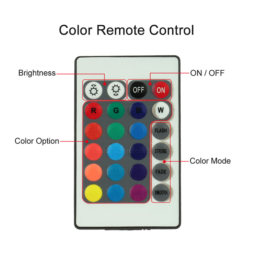4 in 1 wireless remote control interior atmosphere light for Remote control floor lamp price