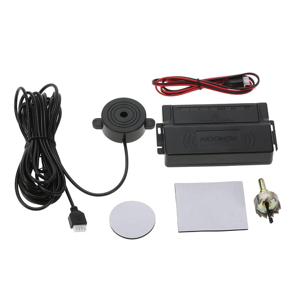 kkmoon voiture automatique parking 4 capteurs radar kit radar de recul syst me d 39 alarme noir. Black Bedroom Furniture Sets. Home Design Ideas