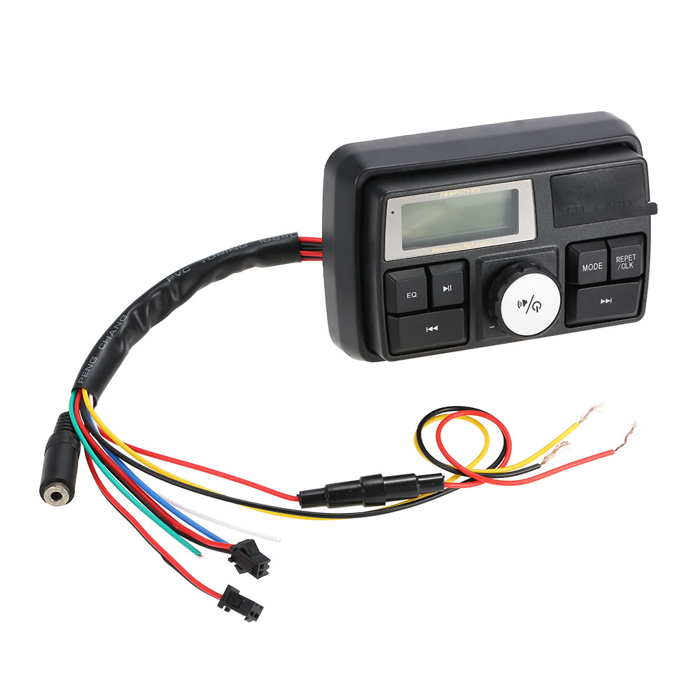 Waterproof Motorcycle Handlebar Audio Amplifier System 3 Stereo Wiring Speaker Fm Mp3 Usb Sd Aux With Remote Control And Alarm Function