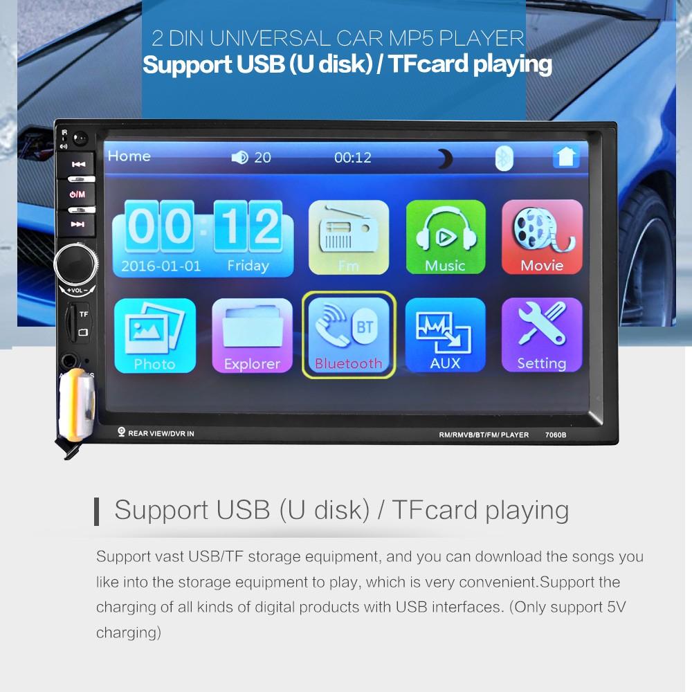 7 inch Car Video 7060B 2din 1080P Car Radio MP5 DVD Player