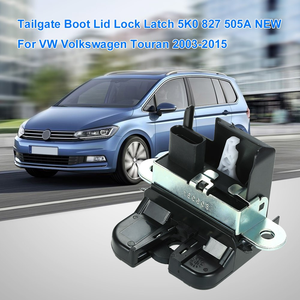 tailgate boot lid lock latch 1t0827505h new for vw. Black Bedroom Furniture Sets. Home Design Ideas