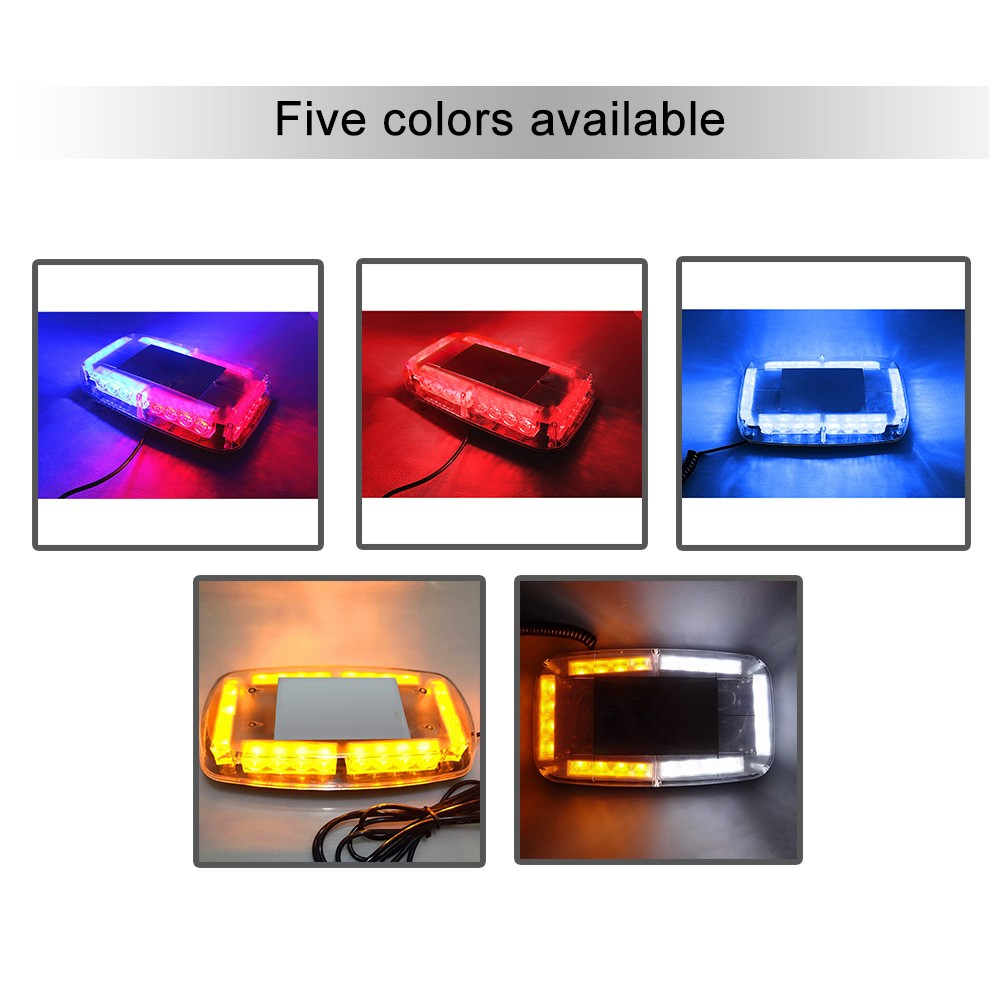 12v Car Roof Led Strobe Lights Bar Police Emergency Warning Fireman Leg Wiring Harness Include Switch Kit Support 120w Light Flash Red And Blue Sales Online 1 Tomtop