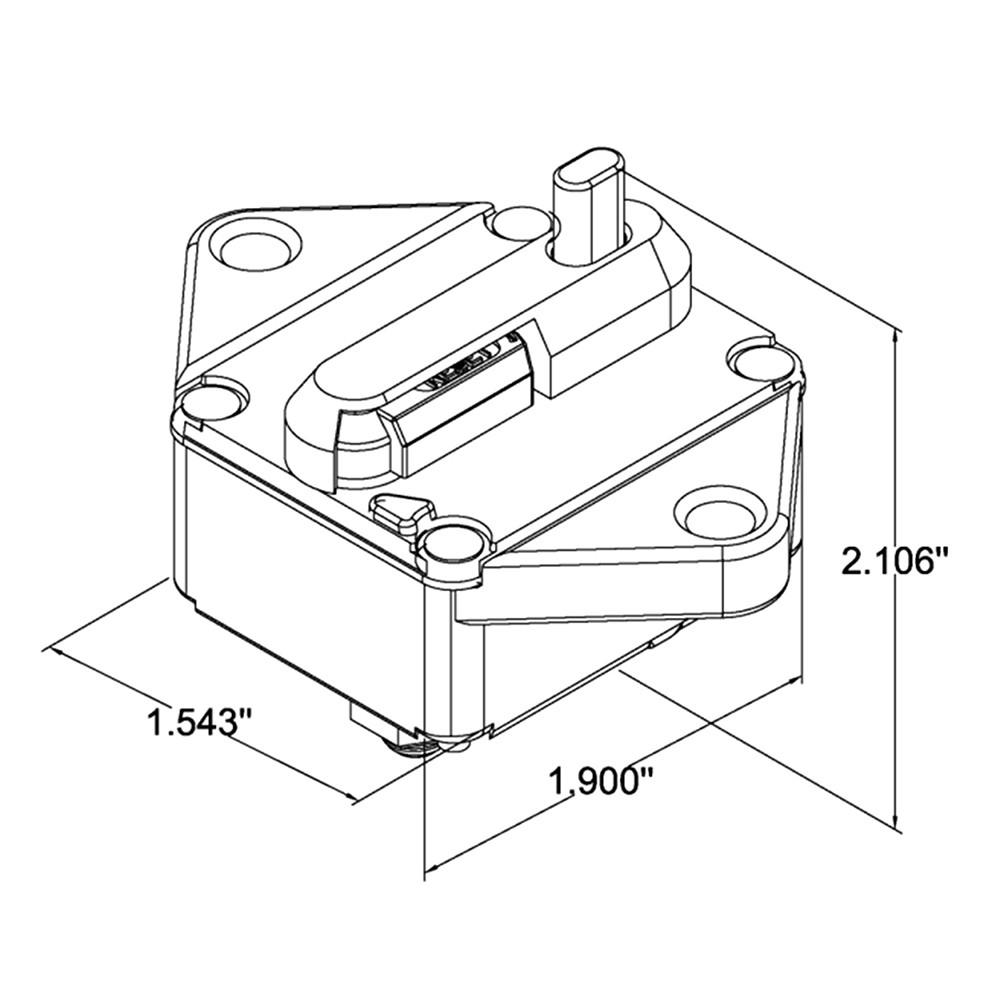 Waterproof Circuit Breaker Overload Protection With Manual Reset 543 Cat Engine Diagram Switch For Car Bus Truck Caravan Trailer