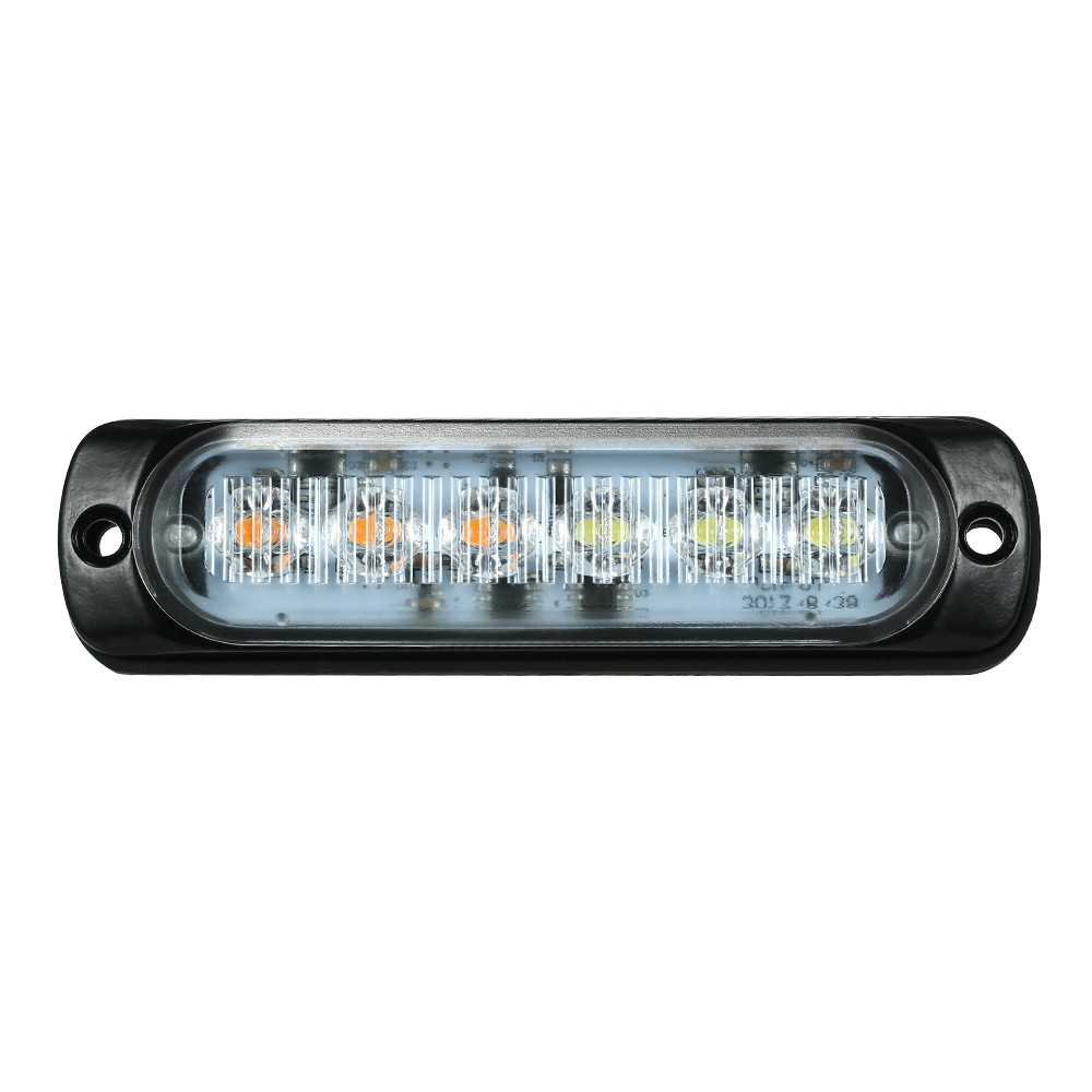 Car emergency light bars 6 led waterproof emergency beacon flash car emergency light bars 6 led waterproof emergency beacon flash caution strobe light bar car suv pickup truck van white yellow light sales online 1 aloadofball Image collections