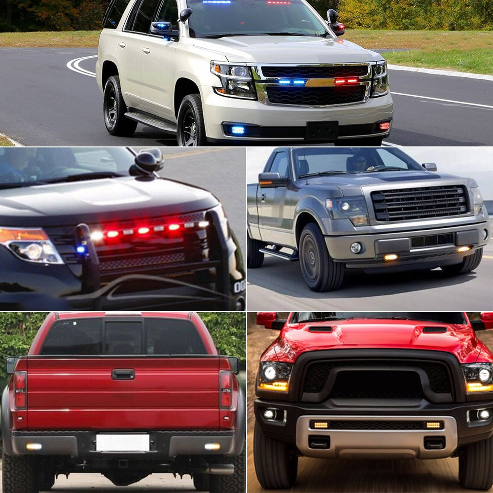 Car emergency light bars 12 led waterproof emergency beacon flash car emergency light bars 12 led waterproof emergency beacon flash caution strobe light bar car suv pickup truck van white yellow light mozeypictures Images