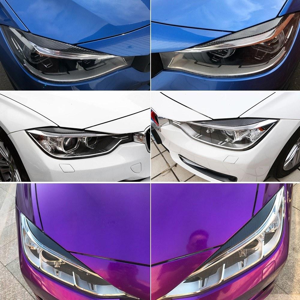 Carbon Fiber Headlights Eyebrows Eyelids For Bmw F30 320i 325i 316i