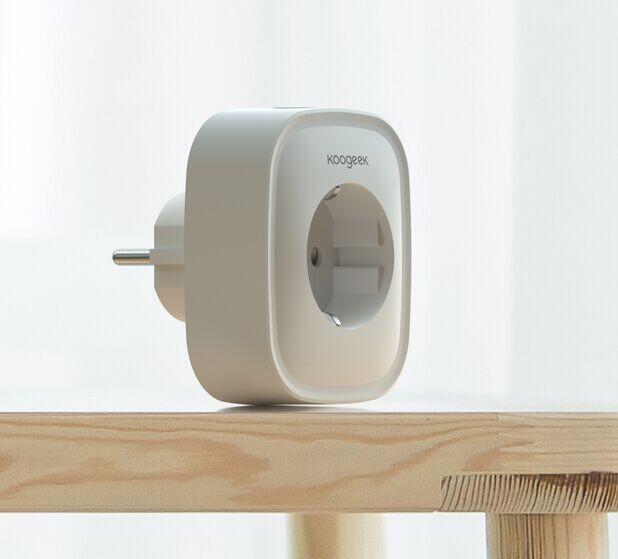 Koogeek Wi-Fi EnabledスマートプラグAlexaとGoogle AssistantリモートコントロールEUプラグ1パックと互換性があります