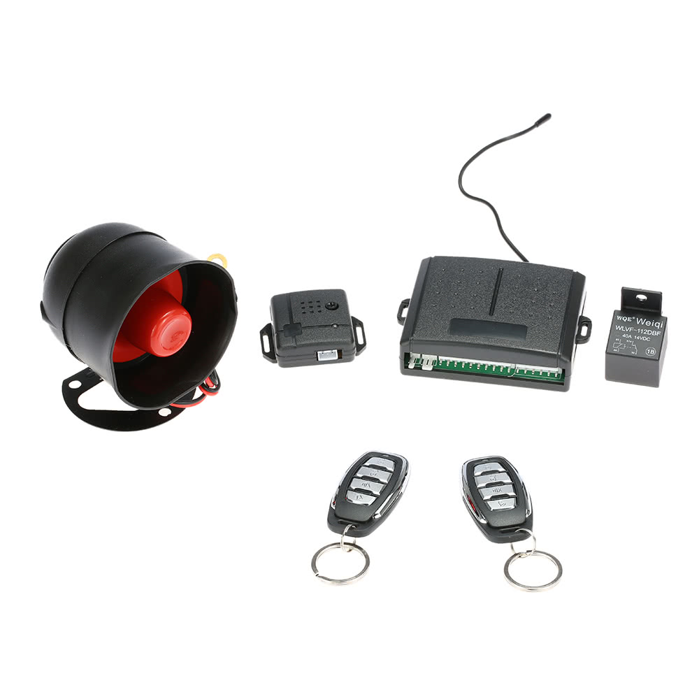 1 Way Car Vehicle Security System Protection Alarm With Siren 2 Electronic Remote Sales Online Black Tomtop