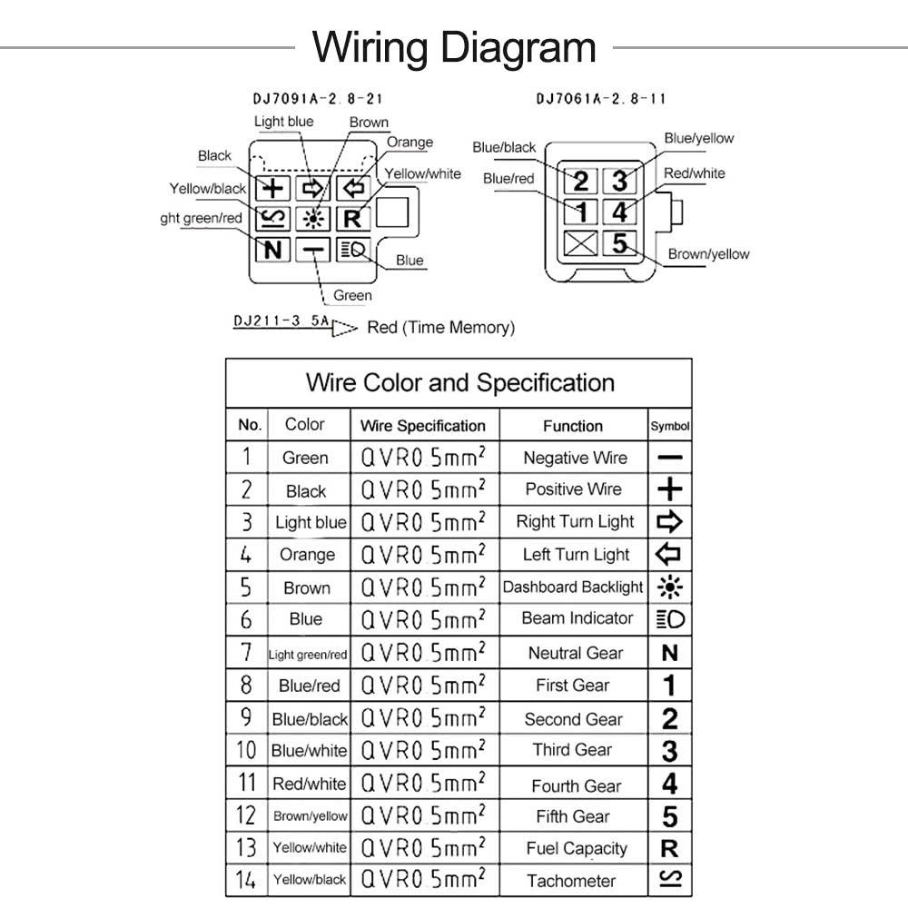 Universal Motorcycle Speedometer Wiring Diagram