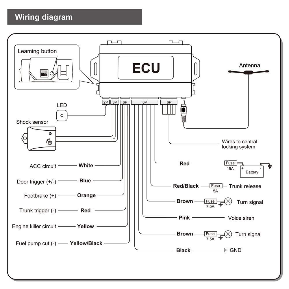 steelmate 888x20 two way car alarm keyless entry security ... saturn alarm wiring diagram