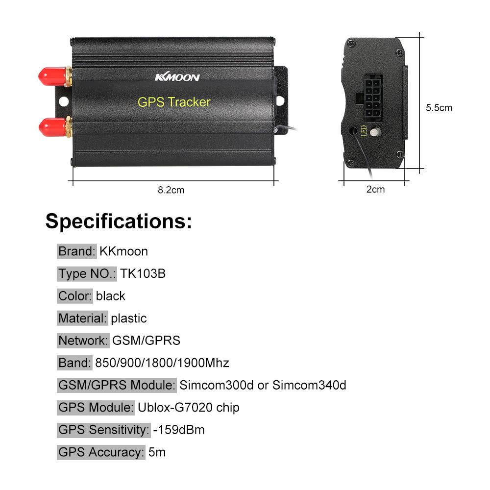 Best KKmoon TK103B GSM GPS GPRS SMS Sale Online Shopping   Cafago com