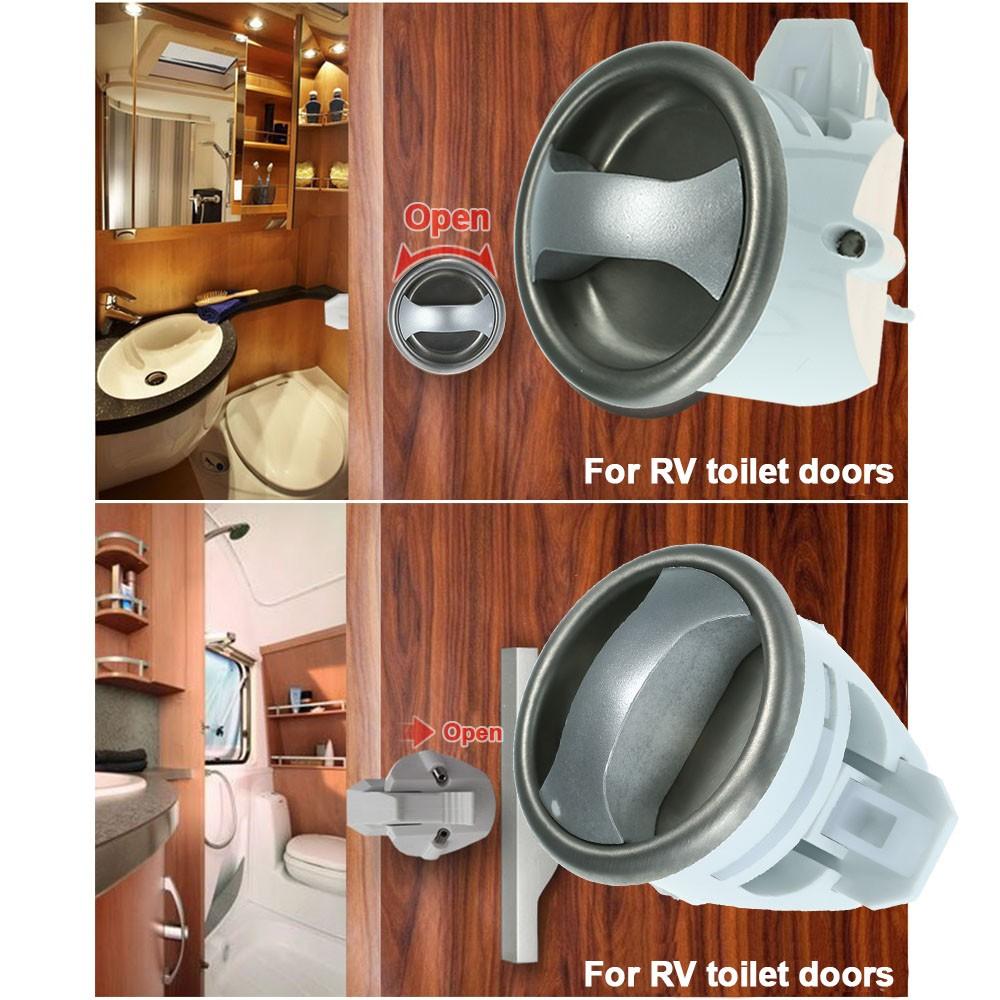 Rv Bathroom Door Knob Lock Round Recessed Door Handle And