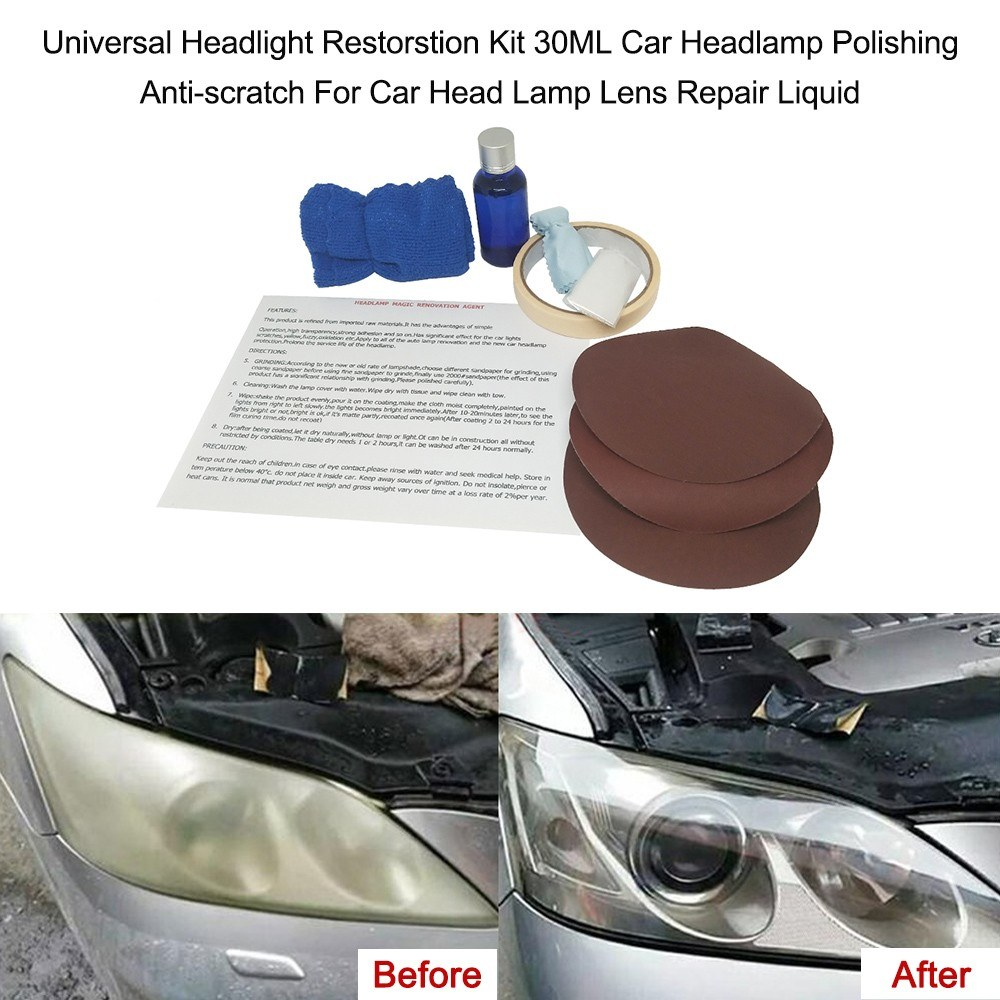 Universal Headlight Restorstion Kit 30ml Car Headlamp Polishing Anti