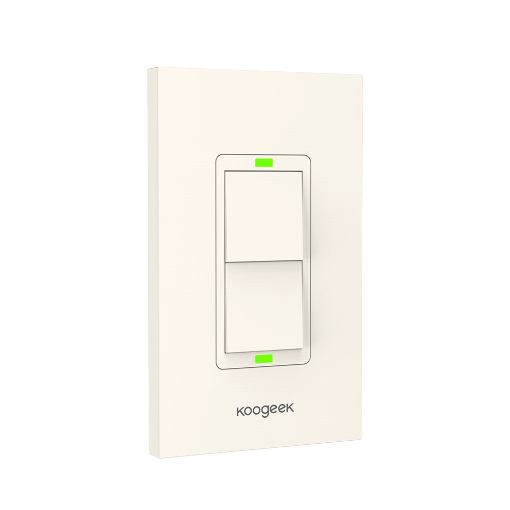 Koogeek Two Gang Wi Fi Enabled Smart Light Switch Works