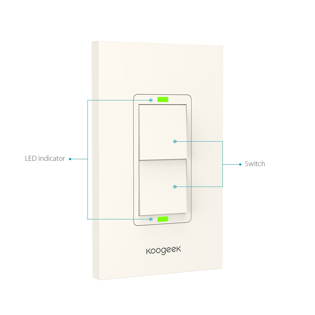 Two Gang Wi Fi Enabled Smart Light Switch Remote Controlled Appliance Circuit Success