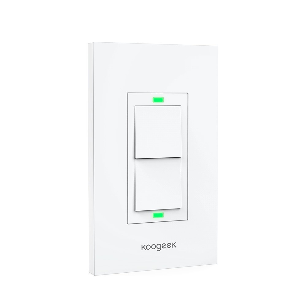 Two gang wi fi enabled smart light switch koogeek success mozeypictures Images