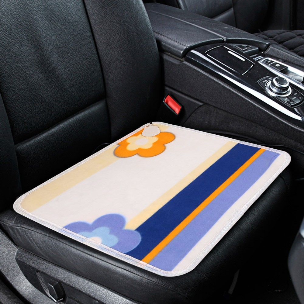 12V Heated Car Seat Cushion Household Cover Heater Warmer Sales Online Flower