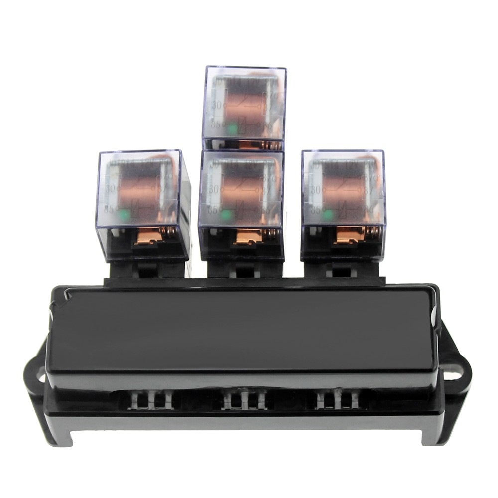 Outstanding 10 Way Fuse Box 5 Pin Socket Base Relay Fuse Holder Block With 13Pcs Wiring 101 Tzicihahutechinfo