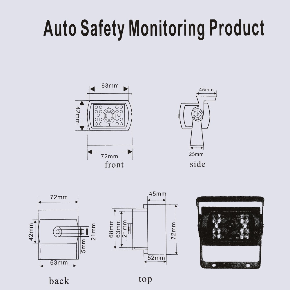 7 Inch Large Tft Lcd Monitor Wireless Video Transmit Car Rear View Reversing Camera Wiring Diagram Backup Reverse System For Bus Truck Led Night Vision Kit