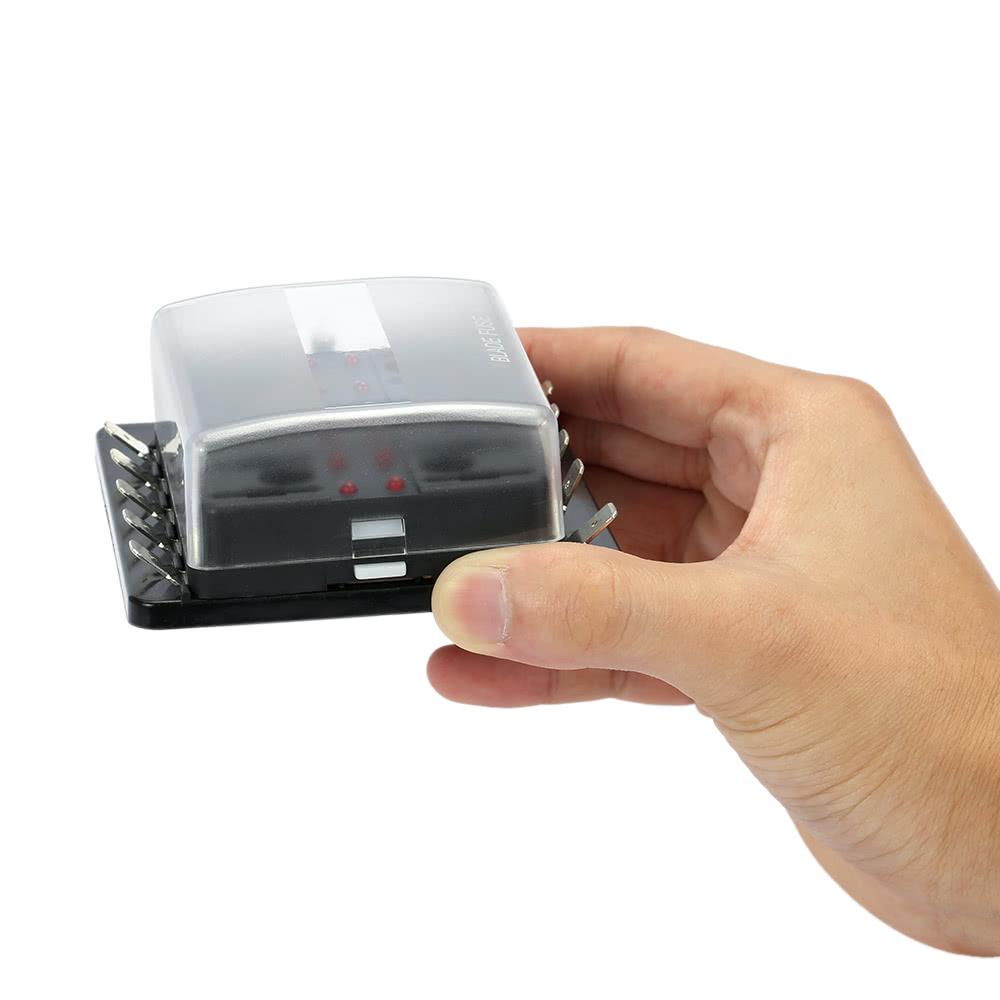 10 way blade fuse box holder with led warning light kit for car boat marine  trike 12v 24v