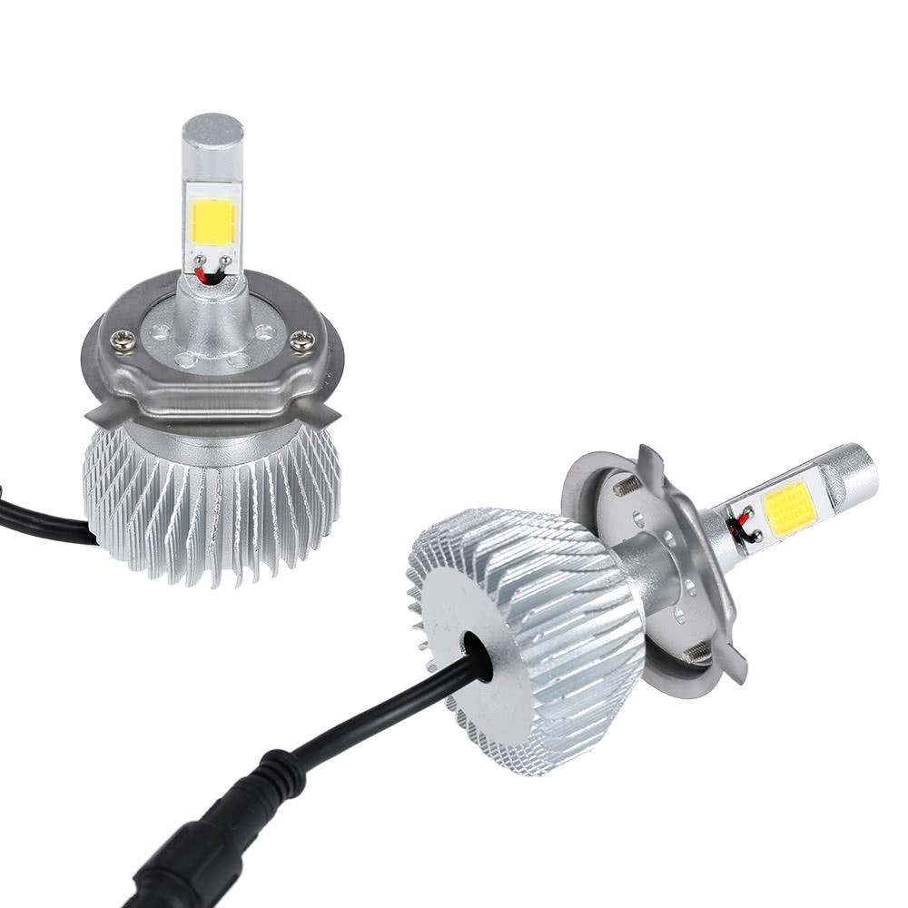 meilleur kkmoon une paire de h4 cob led light phare de voiture lampe de vente en ligne. Black Bedroom Furniture Sets. Home Design Ideas