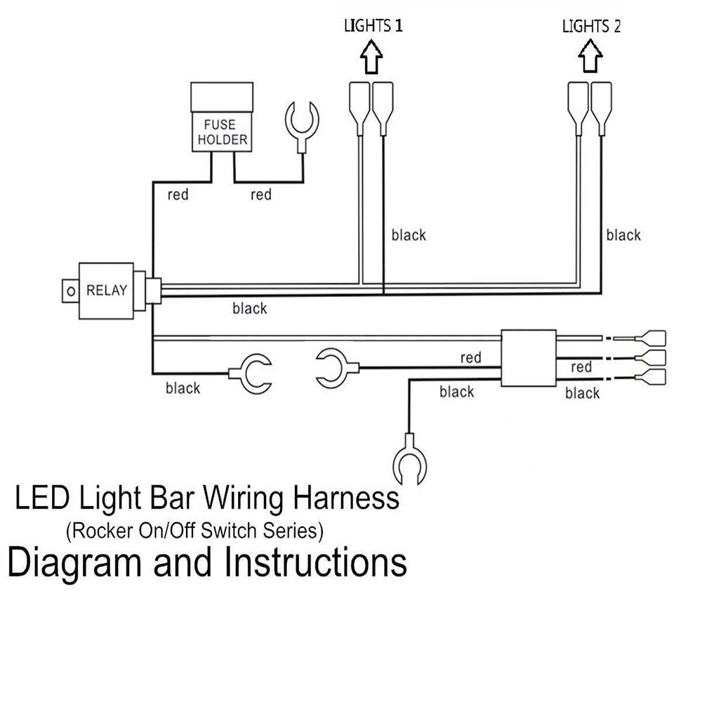 Led Light Bar Laser Rocker On Off Switch With Relay Wiring Harness To Magnify Schematic Circuit Diagram Tv For Car Motorcycle Rv Boat Trailer Sales Online Black Tomtop