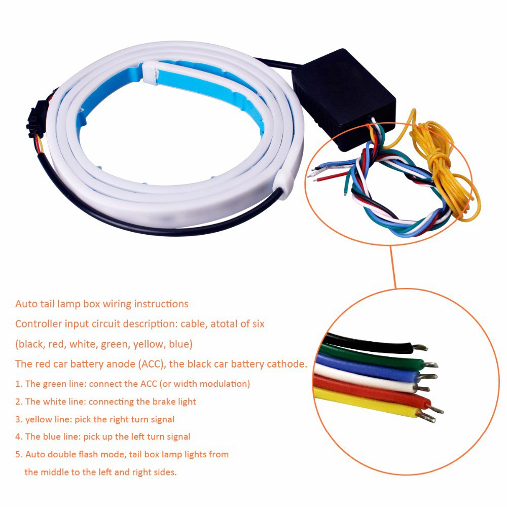 Flexible Led Brake Turn Signal Reverse Warning Flash Lights Sales Bulb Wiring Diagram Strip Light Wire For Installation Package List 1x