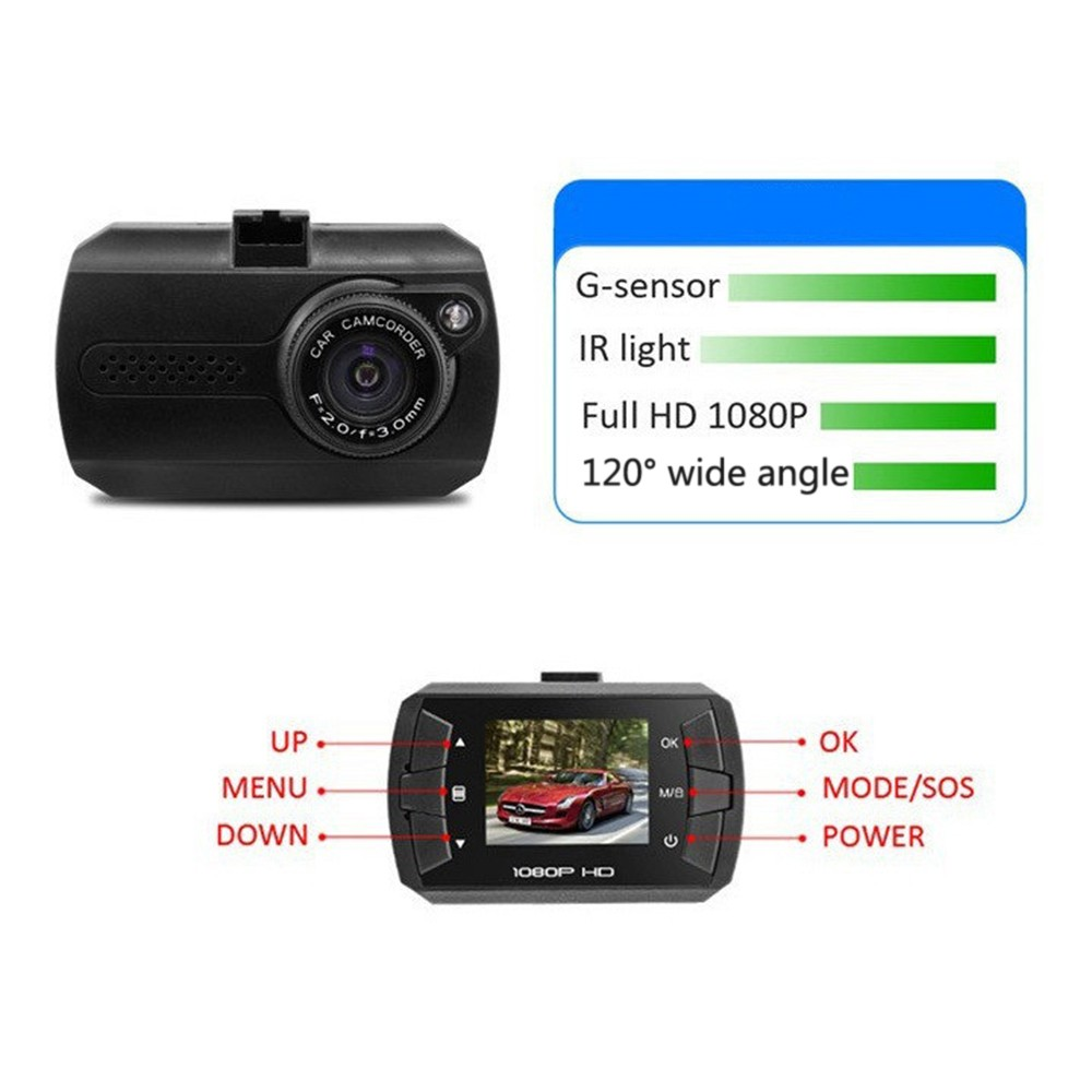 "DVR Camera HD 120 Degree Angle 1.5"" Car DVR Camera For Driving Recording Car Detector Dash Cam Vehicle Camcorder"