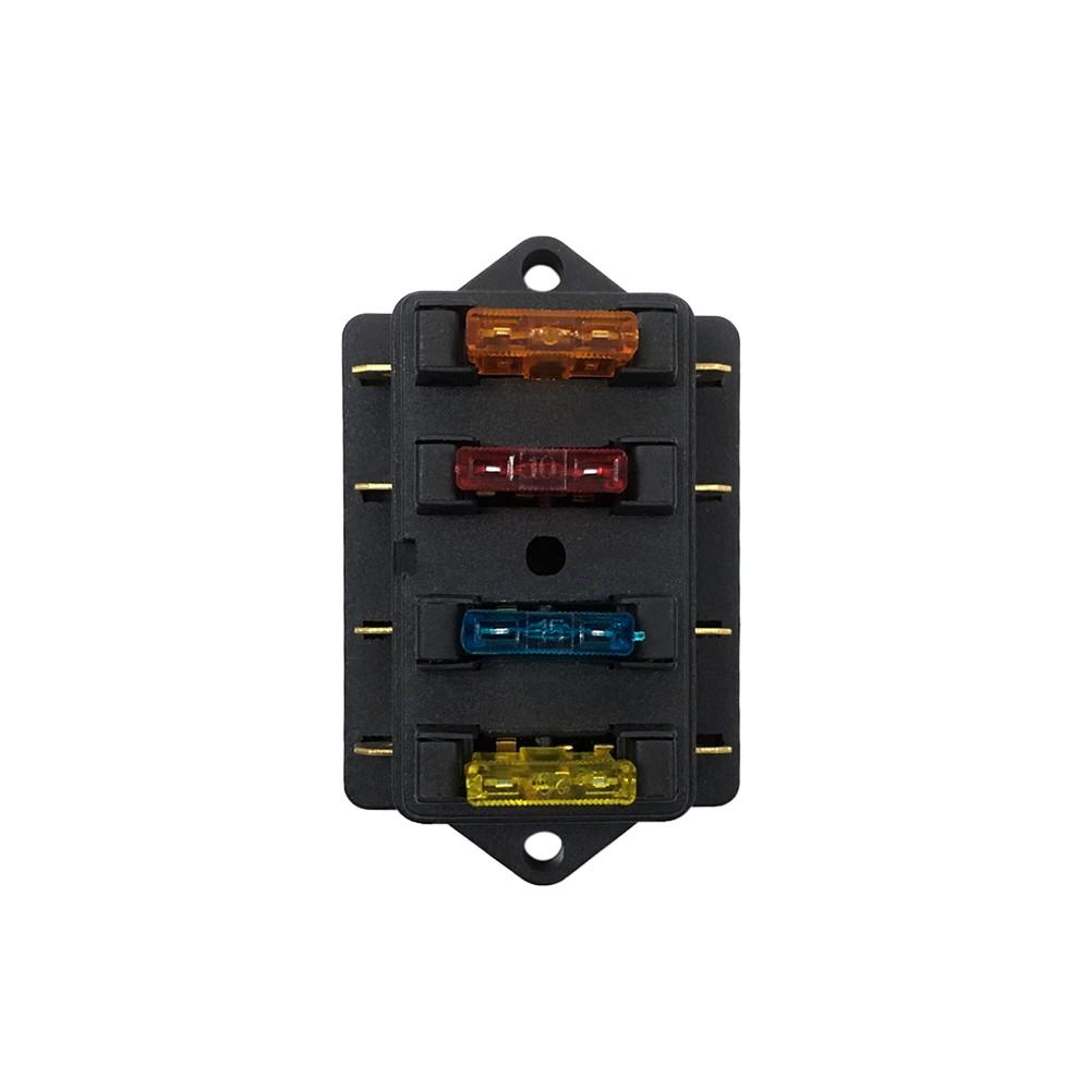 Way Fuse Holder Box Car Vehicle Automotive Circuit Blade Block Atc Ato With Standard Fuses