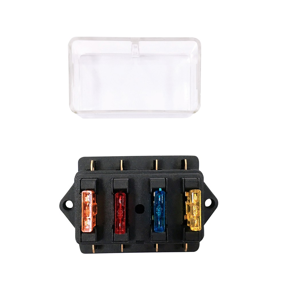 Way Fuse Holder Box Car Vehicle Automotive Circuit Blade Block Electrical With Standard Fuses