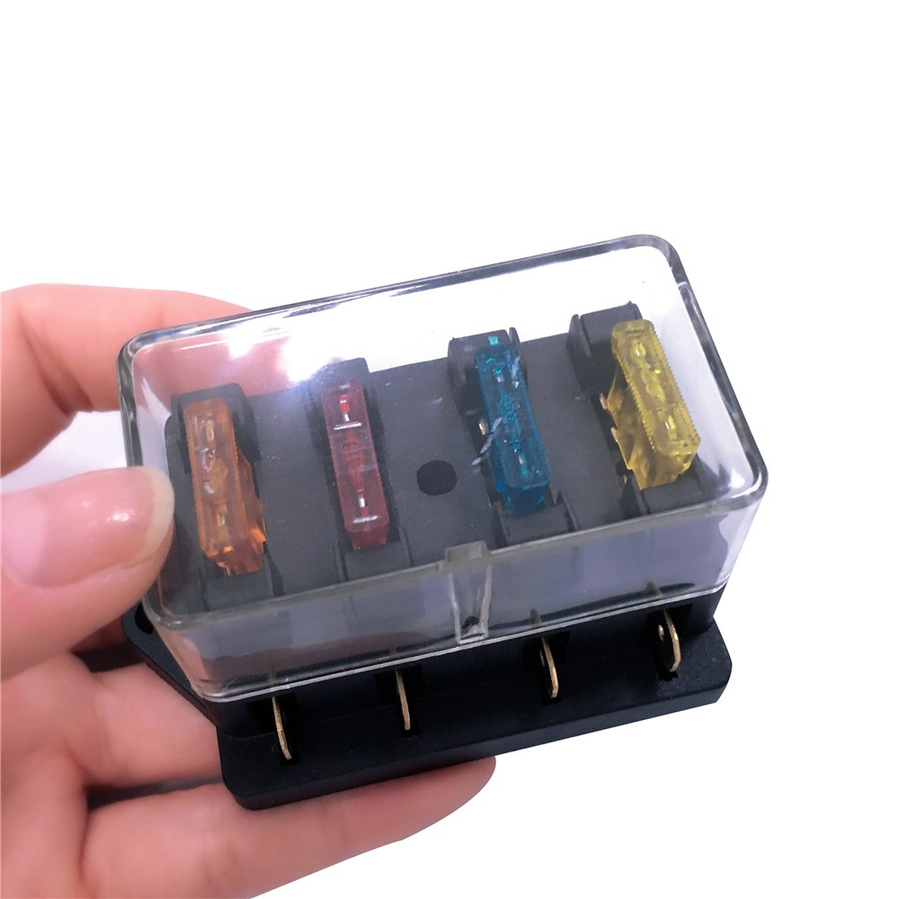Way Fuse Holder Box Car Vehicle Automotive Circuit Blade Block On With Standard Fuses Sales Online 4 Tomtop