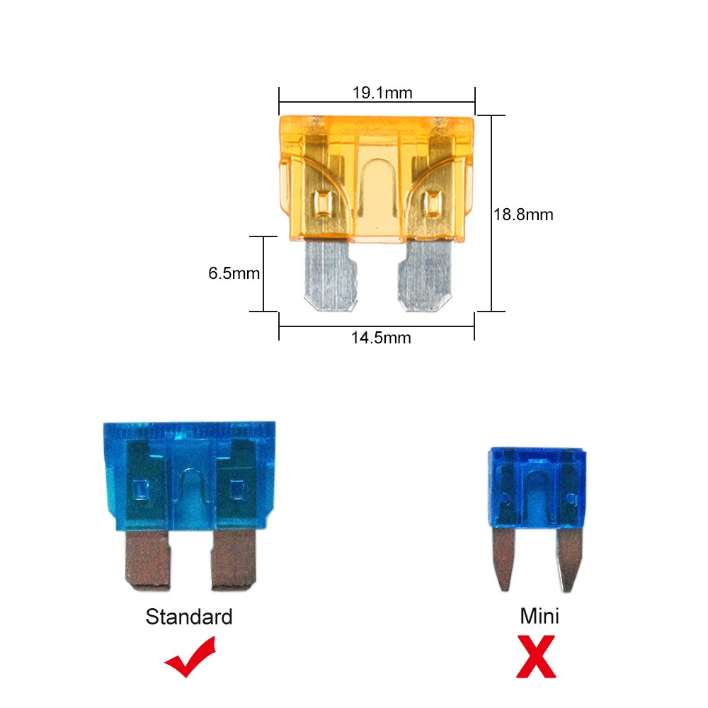 Way Fuse Holder Box Car Vehicle Automotive Circuit Blade Block 4 With Standard Fuses Sales Online Tomtop