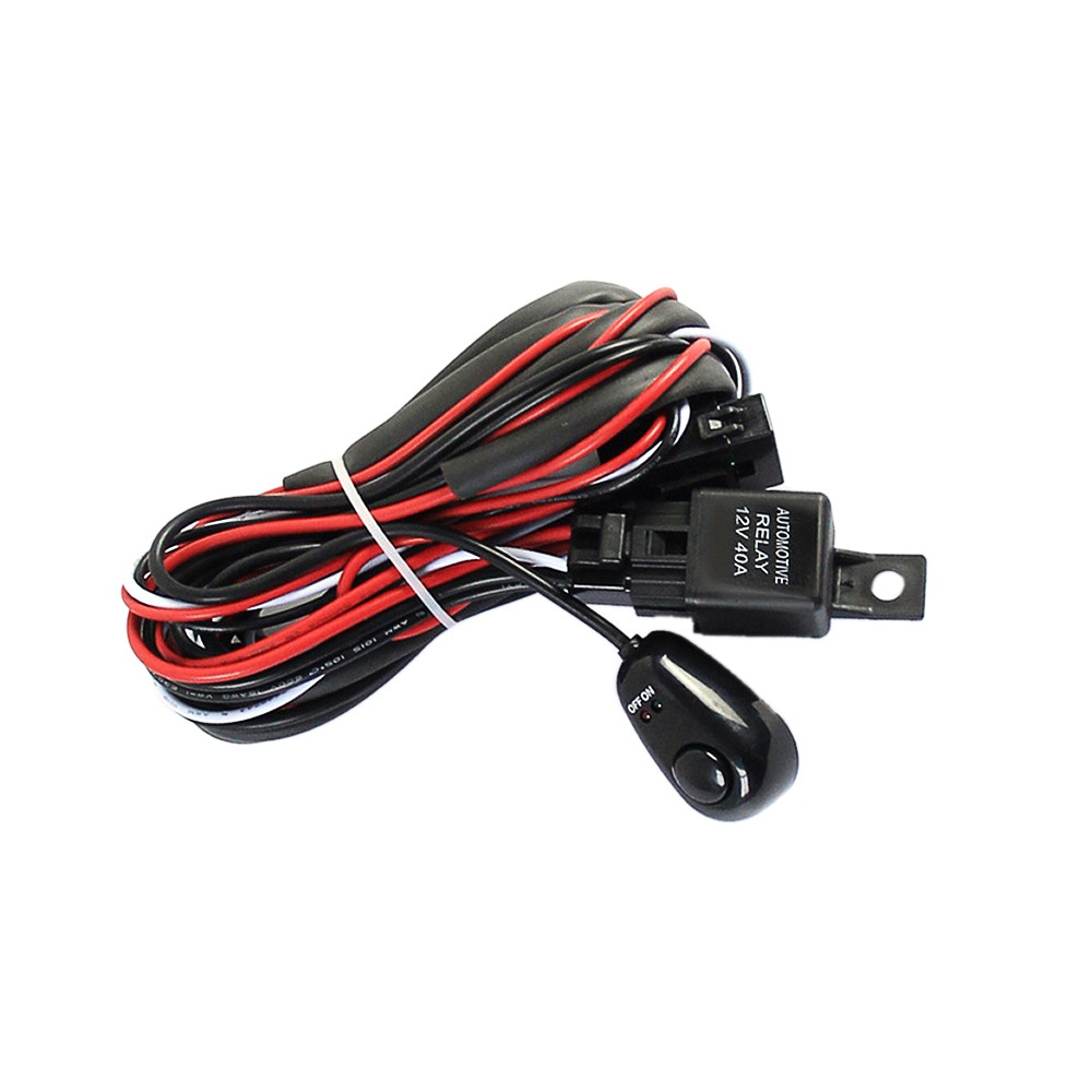 Professional Wiring Harness Kit Loom For Led Work Driving Light Bar Off Road Kits With Fuse Relay 12v 40a Sales Online Tomtop