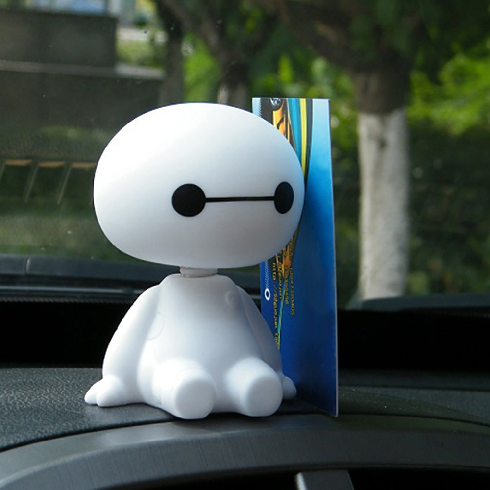 Cute Baymax Robot Shaking Head Doll for Car/Home/Office Interior Decorations
